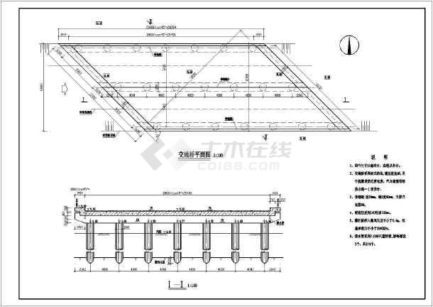 某跨度18m宽12m板式桥结构布置图图片