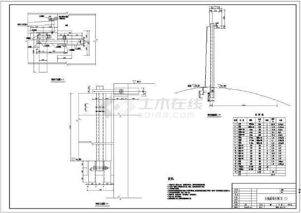 某小型水利工程立轴标注木数字结构图_cad图cad闸门旋转更改快捷键图片
