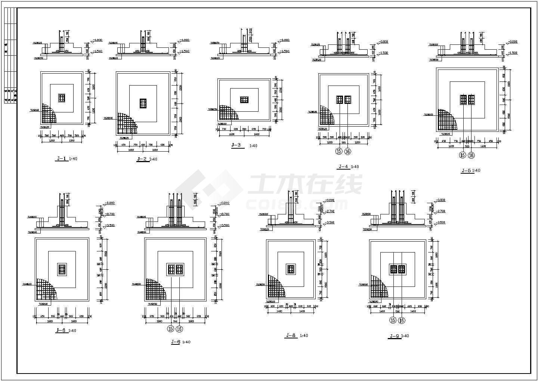 某排架厂房建筑,结构,消防,电气施工图