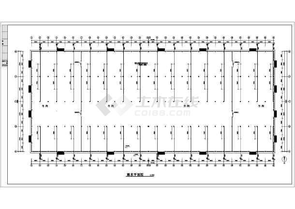 某排架厂房建筑,结构,消防,电气施工图  相关专题:排架结构施工图钢