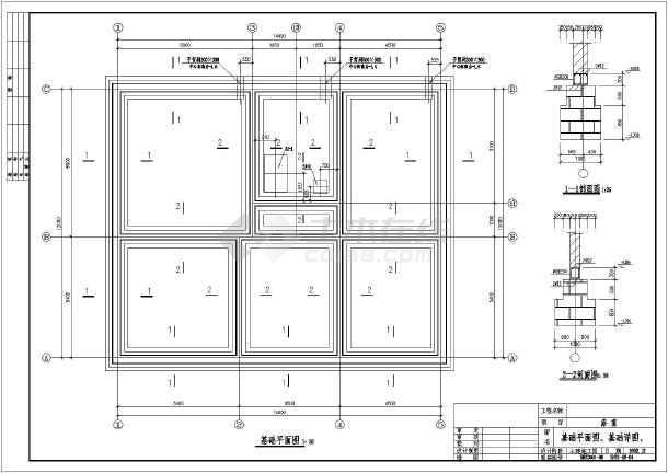 某单层砖混浴室建筑结构设计施工图