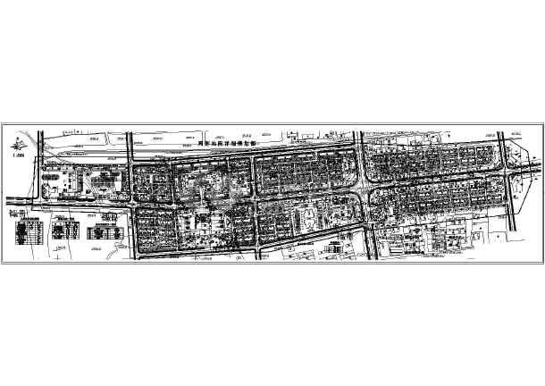 街详细规划设计总平面布置图图片