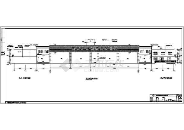 青岛海鲜水产交易市场2层超长砖混结构施工图
