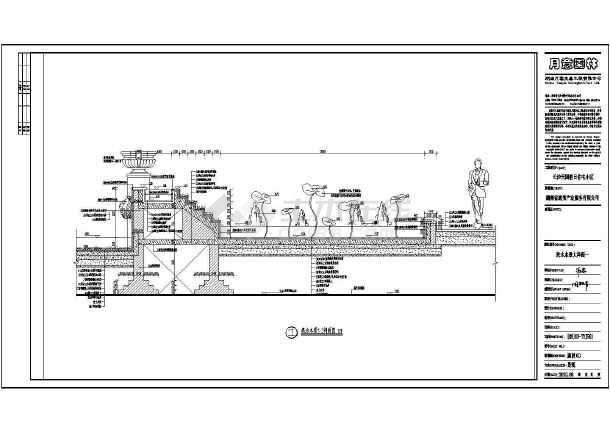 某小区中心水系景观规划设计施工图图片