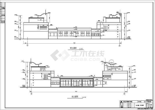 某小学两层底框结构教学楼建筑设计施工图