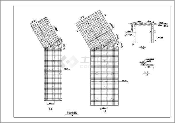 包含分水闸平面布置图,纵剖面图,及各典型断面图,细部大样图.