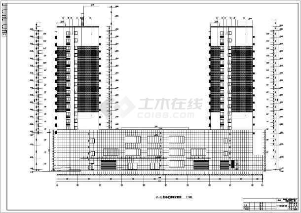 设计图 三层民房建筑设计图  所属分类:幕墙设计 节点详图 建筑图纸