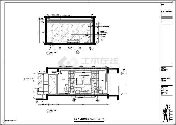 图纸包含客厅,餐厅,卧房,卫生间等内部装修设计图.