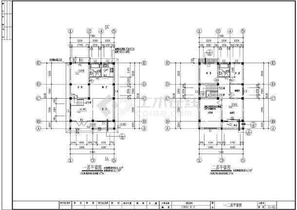 【上海】某二层农村复式别墅建筑设计图