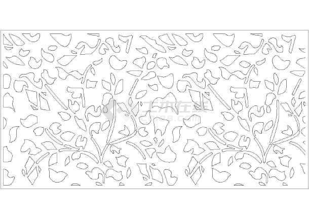 花样纹理(隔断)图案cad图块大全图片2