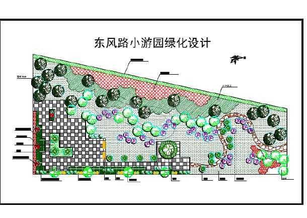 某地区小游园绿化景观设计平面详图图片1