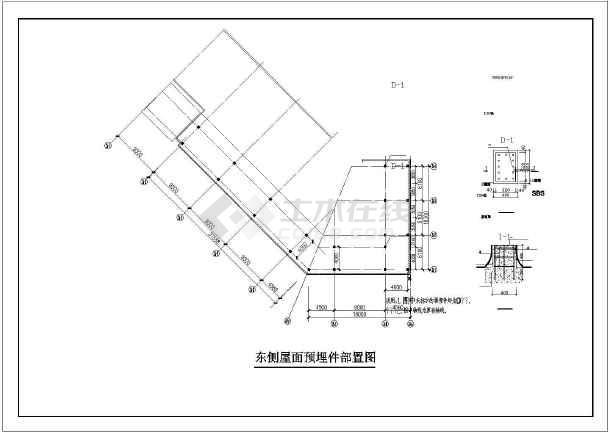 大型屋顶钢结构平面布置施工设计图图片