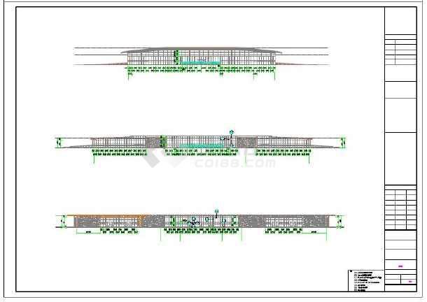 汽车站外幕墙及屋顶钢结构造型施工图
