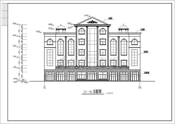 某四层框架办公楼建筑结构施工图(共16张)