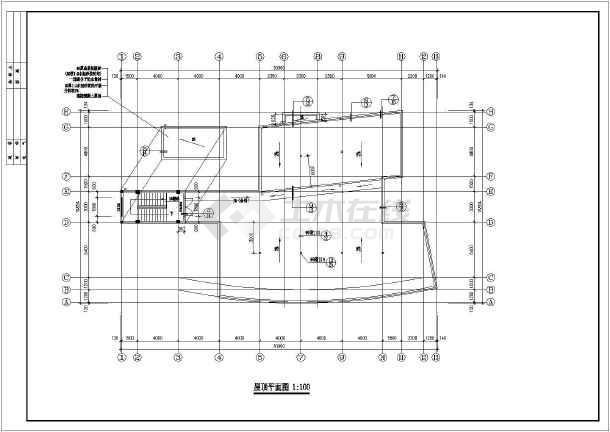 某四层框架办公楼建筑,结构施工图