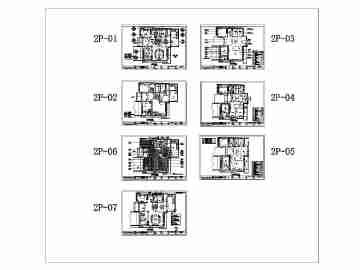 【武汉】某小区别墅建筑结构设计图