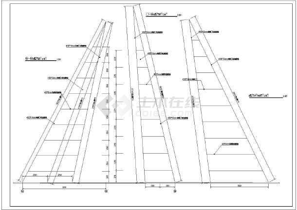 某高层建筑屋顶22米高的避雷钢结构施工图