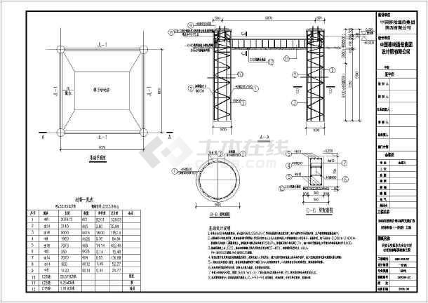 包含:基础设计说明,总平面图,散水及轻质机房基座施工图,40米角钢塔