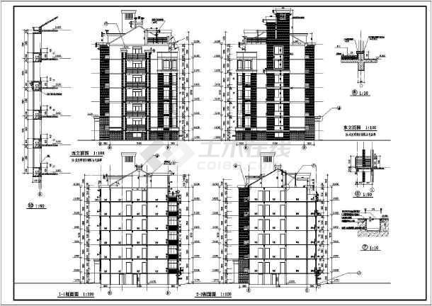 地六层砖混结构住宅建筑施工图纸