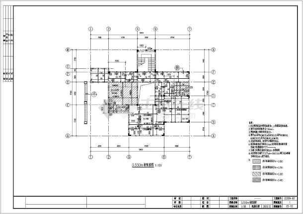 某地别墅结构柱结构全套异形框架别墅施工图车库门用二层什么图片