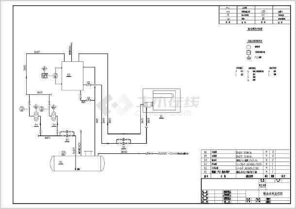 8吨燃油(气)两用热水锅炉锅炉房设计图图片