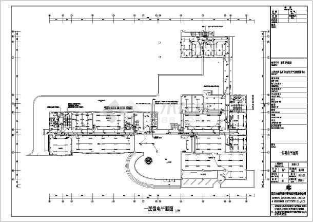 某四层图纸设计预警中心技能防灾气象_cad图图纸竞赛电气机修钳工图片