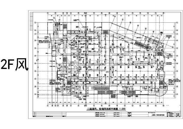 大润发四层超市通风空调消防人防设计施工图图片