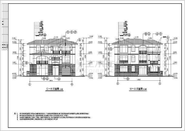 该图纸为某3层别墅框架别墅图纸包括及全套施工图,结构建筑二手长垣结构图片