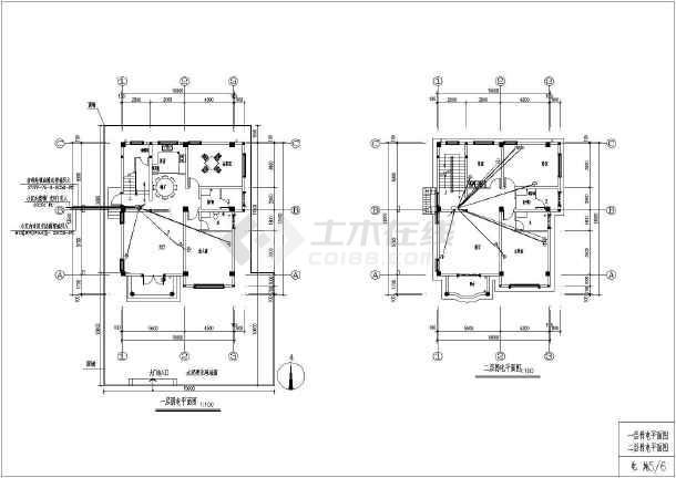 图纸 建筑图纸  别墅图纸  别墅设计图  某农村三层钢筋混凝土框架