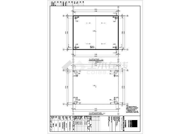 钢铁构彩瓦棚结构图