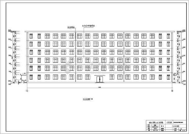 图纸 建筑图纸 教育建筑 中学教学楼设计图 连云港某地六层框架结构教图片