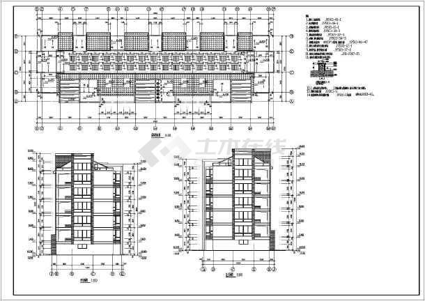 框架商铺住宅楼结构设计施工图,图纸内容包括:结构设计说明,基础平面