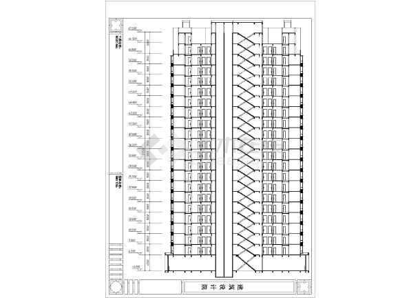某住宅小区机械图纸建筑方案设计高层住宅济宁v机械图片