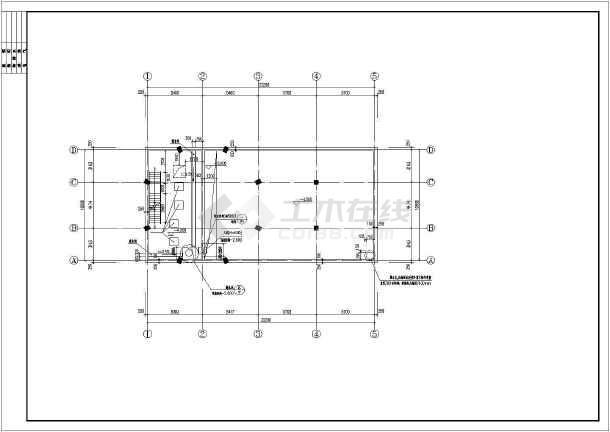 某地下室消防水池与泵房建筑设计施工图