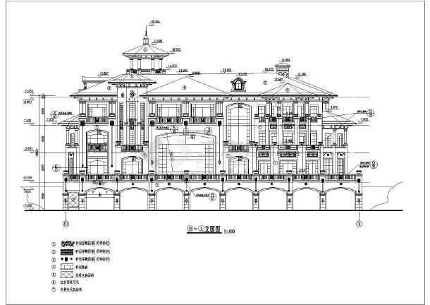 某地区三层欧式别墅建筑设计施工图