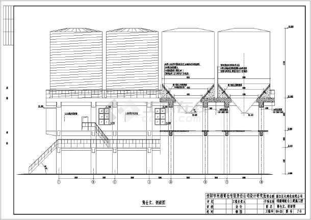 钢结构图纸 其他建筑结构设计施工图 浙江某公司某大型钢板筒仓结构