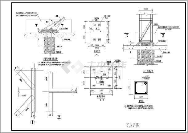 钢结构图纸 其他建筑结构设计施工图 某地钢结构屋顶广告牌结构施工