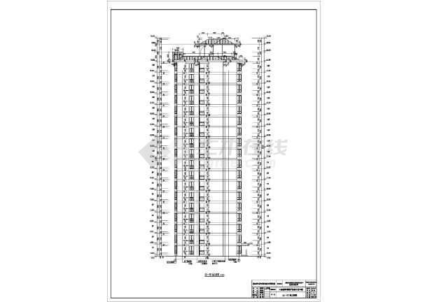 某地区18层剪力墙结构住宅楼建筑设计施工图
