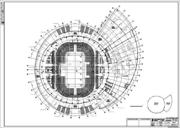 多层框架体育馆给排水cad设计施工图