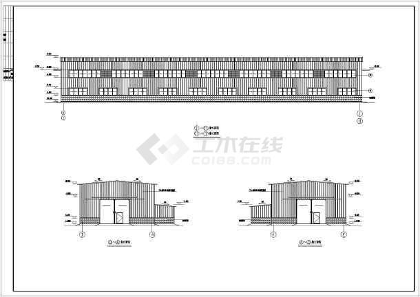 某地15x60米钢结构厂房的建筑施工图