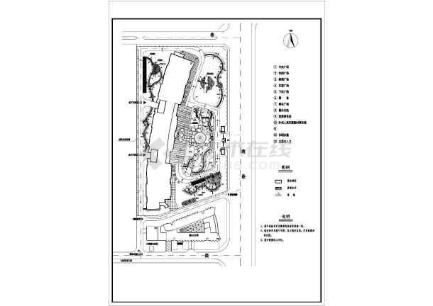 图纸 园林设计图 景观规划设计 其他类别景观规划设计图 某大型办公楼