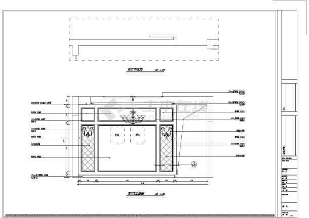 【福州】繁华商业区欧式新古典四居室样板间装修施工图图片
