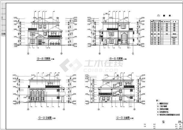 东莞市三层图纸建筑别墅v图纸施工图_cad户型一汽别墅图片