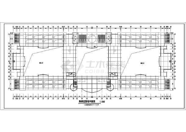 中学教学楼电气设计施工方案,该教学楼共有五层,图纸包括一到五层图片