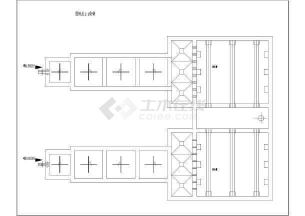 混凝沉淀池工艺图(平面及剖面)设计图片1
