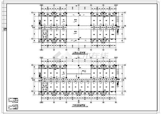 平面设计大参考_【大连】某学生宿舍楼建筑设计平面图_cad图纸下载-土木在线
