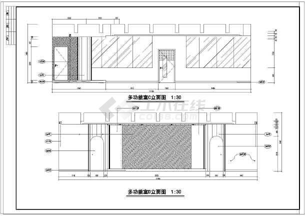 昆山市玉山镇北珊湾幼儿园室内装修设计(平面及立面部分)