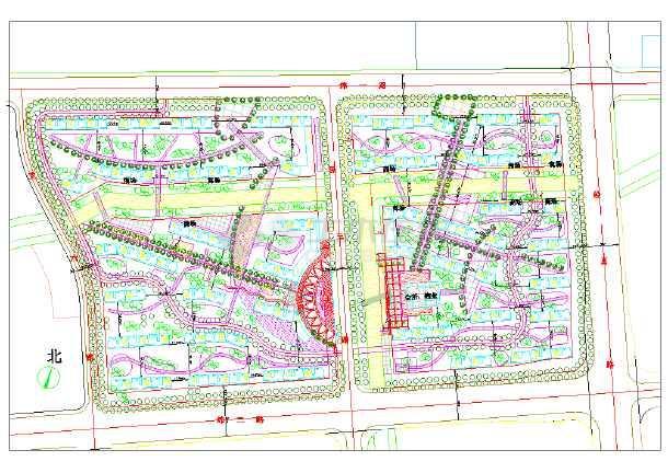 【长治】某住宅小区规划方案设计图纸 本图纸为【长治市】某住宅小区