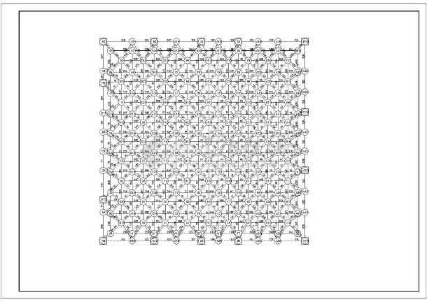 某电影院观众厅网架结构设计图(全集)