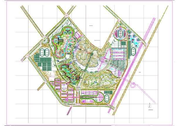 某大学新校区详细规划平面图(全套)图片1